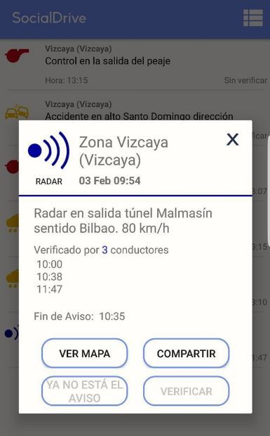 Aviso falso en Social Drive