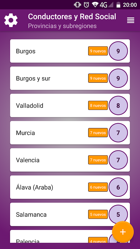 Capturas de pantalla de la aplicación CyrSocial