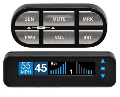 Display y botonera del Escort Max Ci 360