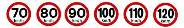 Avisos de limite de velocidad