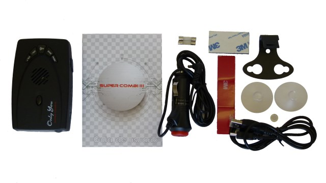Accesorios disponibles de serie con el Avisador+Detector Onlyyou Supercombi III