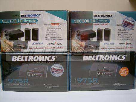 Cajas de los diferentes modelos de Beltronics 975