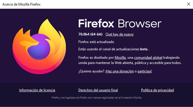 Nuevo Firefox Browser y otros proyectos de Mozilla