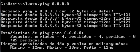 Ping a Google DNS