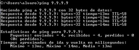 Ping a Quad9 DNS