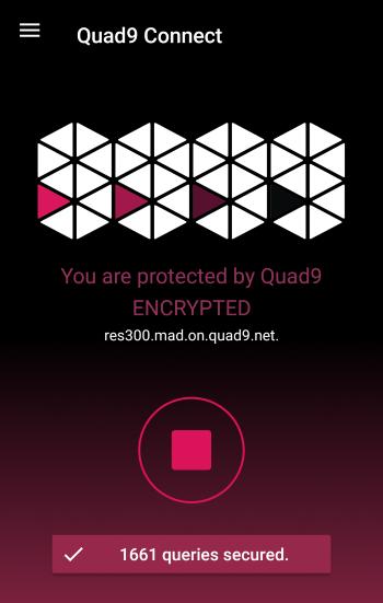 Aplicación Quad9 DNS para móviles Android