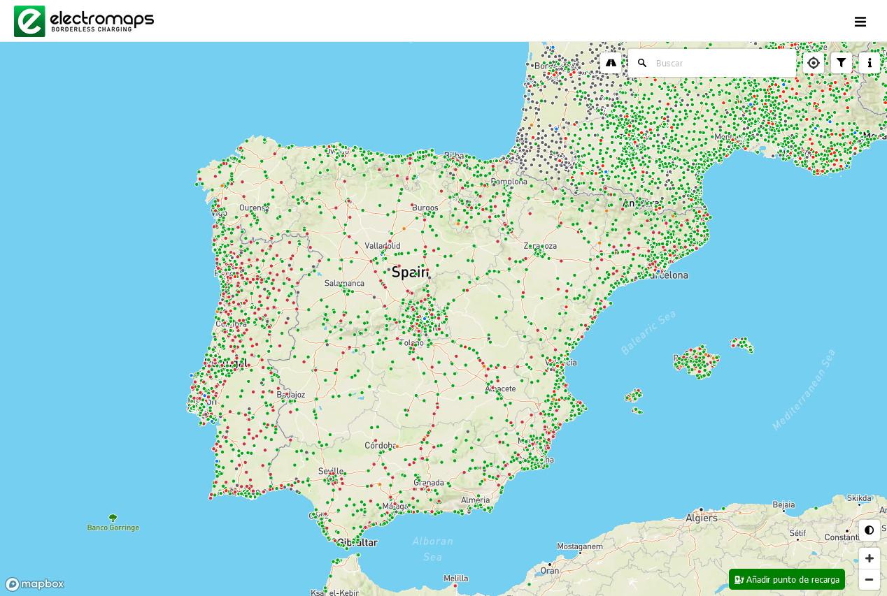 Electromaps: Mapa de puntos de recarga de coches eléctricos