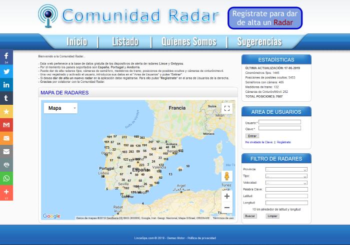 Comunidad Radar