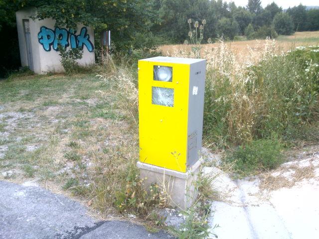 Falso radar real situado en Olabe (Navarra)