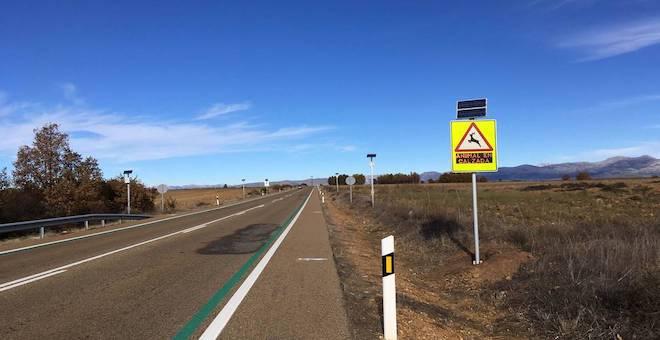 Novedoso sistema para alertar de la presencia de animales en la carretera
