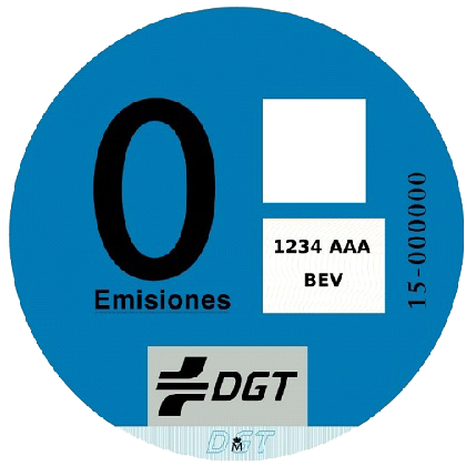 Etiqueta medioambiental DGT Cero Emisiones