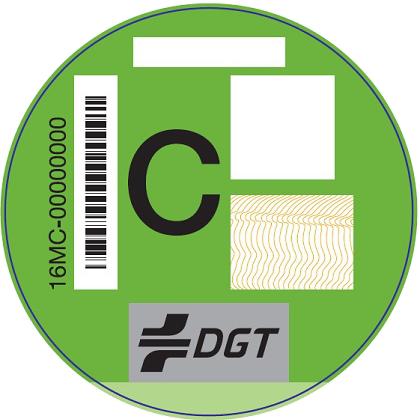Etiqueta medioambiental DGT C Verde