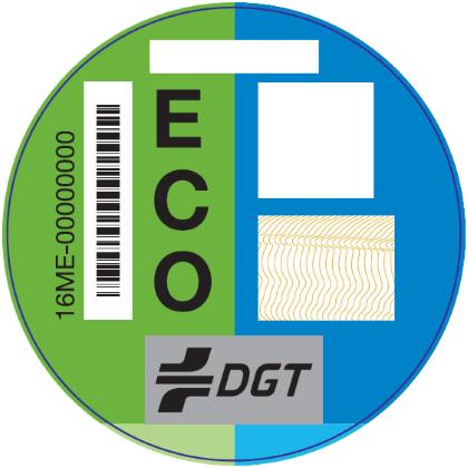 Etiquema medioambiental DGT ECO