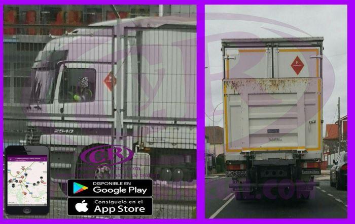 Camión de la DGT para sancionar cinto/movil