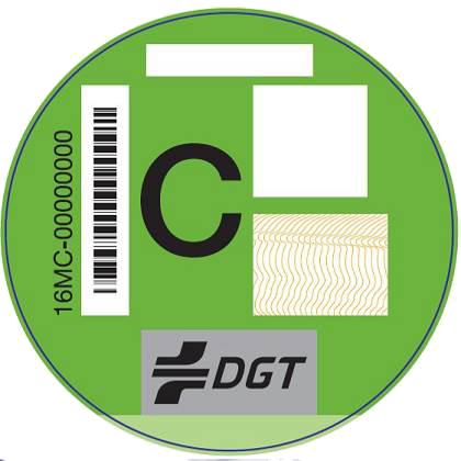 Etiqueta medioambiental C Verde
