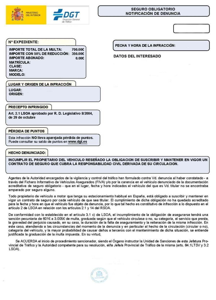 Nuevo formato de las multas de la DGT: más claras y con mensaje